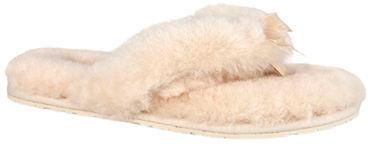 UGG Ladies Fluff Sheepskin Flip-Flops