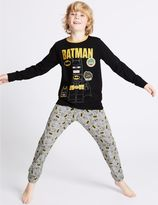 Marks and Spencer BatmanTM Long Sleeve Pyjamas (3-14 Years)