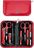 THREE SWORDS - Exclusive 8-Piece MANICURE - PEDICURE - GROOMING – NAIL CARE set / kit / case - basic-standard quality (409218)