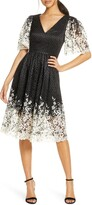 Eliza J Floral Contrast Lace Dress