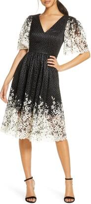 Eliza J Floral Contrast Lace Dress