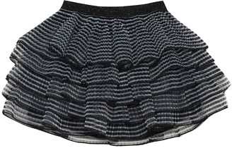 Marc Jacobs Striped pleated voile skirt