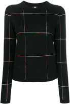 Paul Smith grid motif sweater