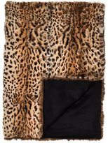 Adrienne Landau Leopard Print Fur Throw