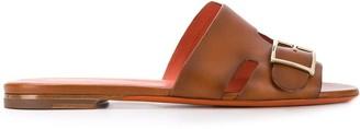 Santoni Buckled Flat Sandals