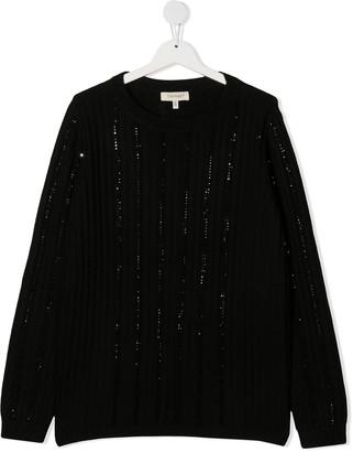 Twin-Set TEEN sequin-embellished jumper