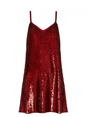 Ashish \N Burgundy Silk Dresses