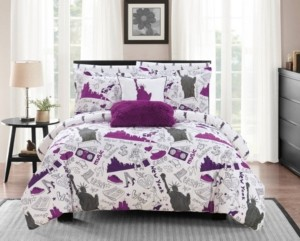 Chic Home Liberty 9 Piece Full Bed In a Bag Comforter Set Bedding