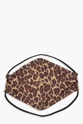 boohoo Leopard Fashion Face Mask