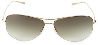 Oliver Peoples Strummer 63MM Aviator Sunglasses