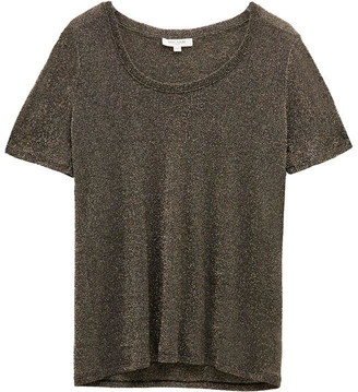 Great Plains Ivy Jersey Glitter Round Neck Top