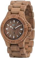 WeWood Men's Date DATE- Brown Wood Analog Quartz Watch with Brown Dial