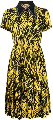 No.21 crystal and zip collar dress