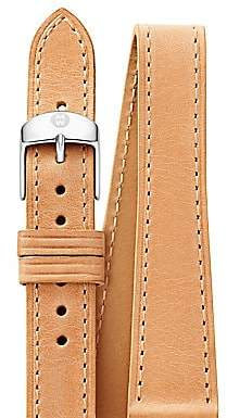 Michele Women's Leather Watch Strap/18MM