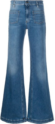 RED Valentino Flared Mid-Rise Jeans