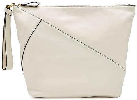 Diane von Furstenberg Zipped Leather Clutch