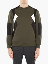 Neil Barrett Green Retro Modernist Sweatshirt