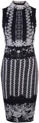 Fuzzi Greek print midi dress