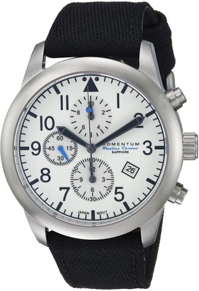 Momentum Men's Sports Watch | Flatline Chrono Adventure Watch by | Stainless Steel Watches for Men | Sapphire Crystal Analog Watch with Japanese Movement | Water Resistant (100M/330FT) | Classic Watch - Lume / 1M-SN34LS6B