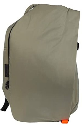 cote&ciel Isar Small Backpack (Khaki Smooth) Backpack Bags