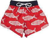 Snapper Rock FISH-PRINT SWIM TRUNKS