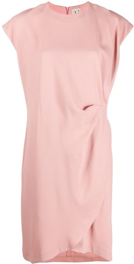 L'Autre Chose Side Pleat Detail Shortsleeved Dress