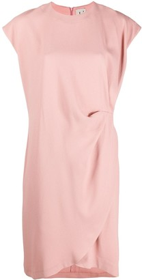 L'Autre Chose Side Pleat Detail Shortsleeved Dress