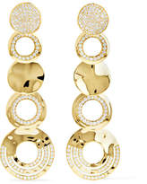 Ippolita Classico Stardust 18-karat Gold Diamond Earrings - one size