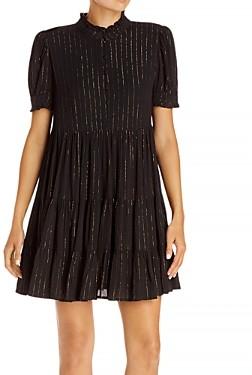Aqua Striped Tiered Mini Dress - 100% Exclusive