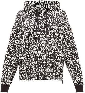 MONCLER GRENOBLE Logo-jacquard Hooded Sweatshirt - Black White