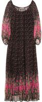 Mes Demoiselles Dana Floral-print Crepon Maxi Dress - Black