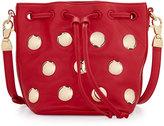 Cynthia Rowley Paisley Studded Leather Crossbody Bag, Red