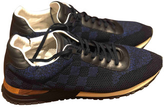 Louis Vuitton Run Away Navy Cloth Trainers