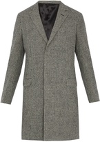 Lanvin Single-breasted hound's-tooth wool coat