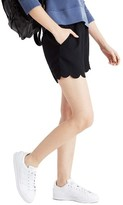 Madewell Women's Scallop Hem Pull-On Shorts