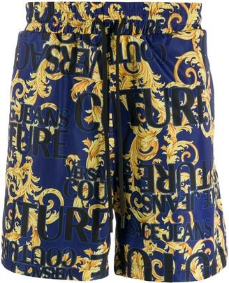 Versace baroque logo-print shorts