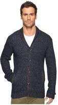 John Varvatos Shawl Collar Cardigan Sweater with Military Rib Stitch Y1431S4B