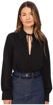 See by Chloe Embellished Crepe Long Sleeve Blouse Women's Blouse