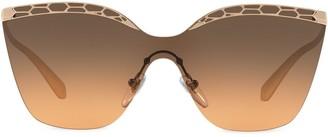 Bvlgari Cat-Eye Cut-Out Sunglasses