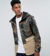 Herschel Supply Co Herschel Forecast Hooded Parka Waterproof 2 Tone In Camo/beige Uk Exclusive