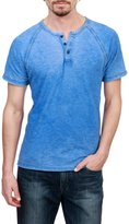 Lucky Brand Short-Sleeve Seam Washed Henley