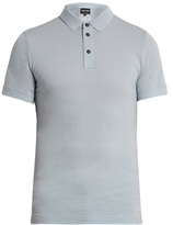 Giorgio Armani Short-sleeved wool polo shirt