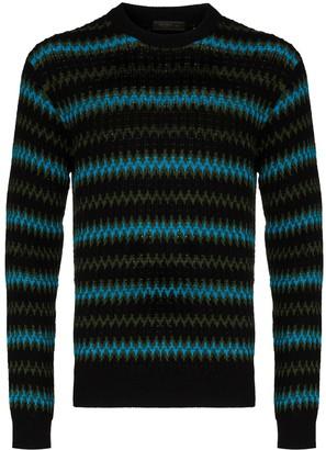 Prada Striped Wool Cashmere-Blend Jumper