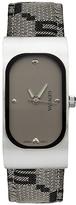 Geneva Platinum Black & White Mod Strap Watch