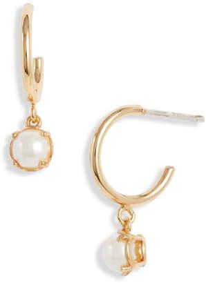 Kate Spade Imitation Pearl Huggie Hoop Earrings