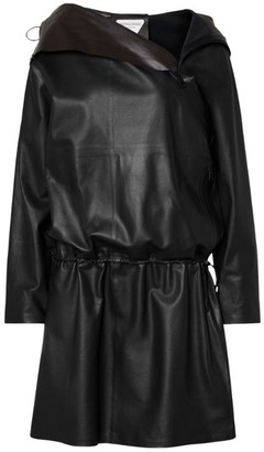 Bottega Veneta Hooded Leather Coat