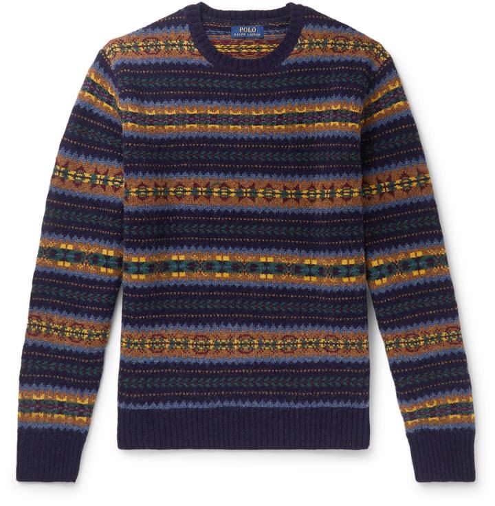 08ec1fe7 Fair Isle Wool Sweater
