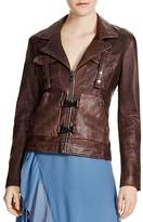 Haute Hippie Blondie Leather Flight Jacket