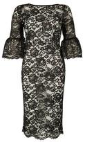Dorothy Perkins Womens Tfnc Black Lace Midi Bodycon Dress, Black