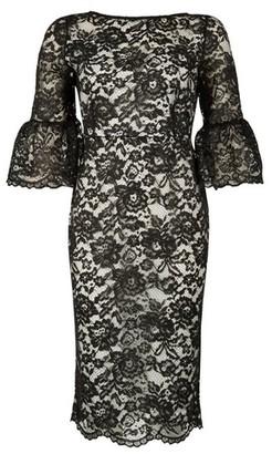 Dorothy Perkins Womens *Tfnc Black Lace Midi Bodycon Dress, Black